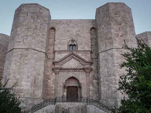 Castel del Monte is situated in Andria in the Apulia region of southeast Italy