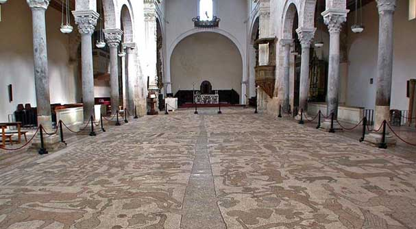 The spectacular mosaic floors in the Cathedral of Otranto
